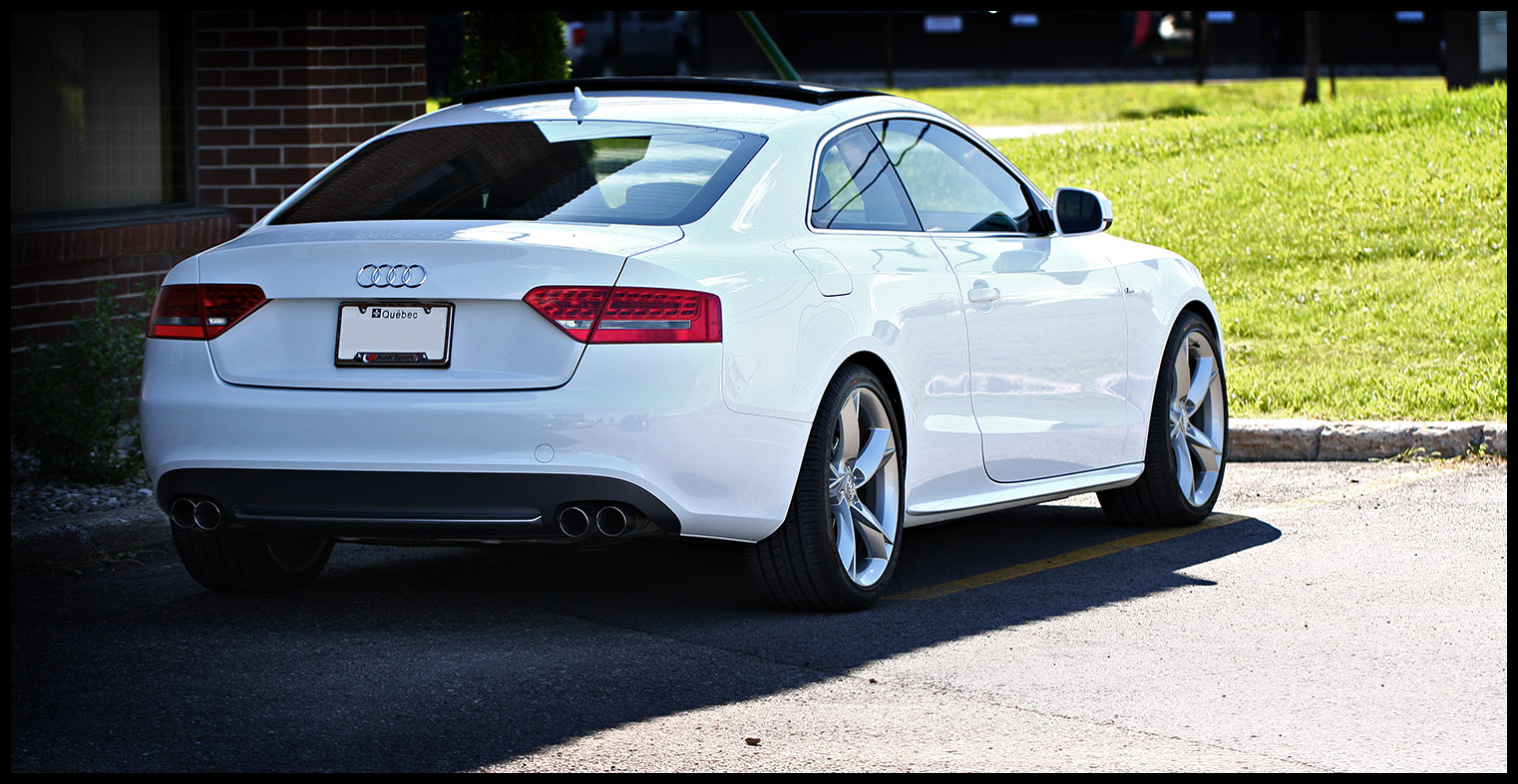 A5 Quad Tip Exhaust Installed